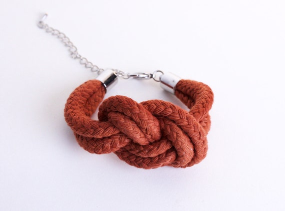 Sailor Knot - Cotton Rope Bracelet in rust