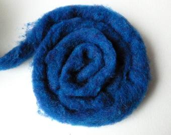 Wool Roving Blue Loch Heather  by Bartlett yarns