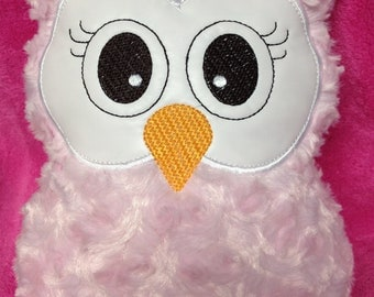 Soft Pink, Fluffy Owl Pillow - Great Baby Shower Gift