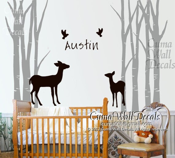 Name wall decals for nursery