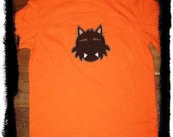 Custom Applique Halloween Wolf Shirt -Short or Long Sleeve