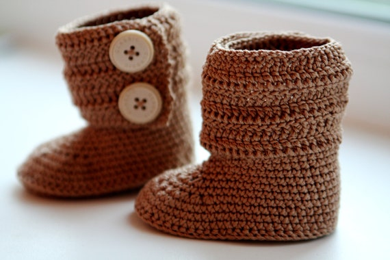 Crochet ugg boot pattern. PDF. This is a PATTERN for crocheted babys ...
