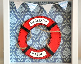 Made to order - Nautical set - Red, blue and white