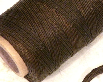 3 Yards Waxed Cord for knotting bracelets and necklaces, jewelry making supply (3 ply) BROWN or BLACK