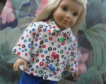 Corduroy jacket and pants for American Girl dolls (or any 18 inch dolls)