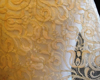 Gold Embroidered Lace for Garments and Home Decor