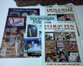 5 booklets and magazines for plastic canvas and cross stitch