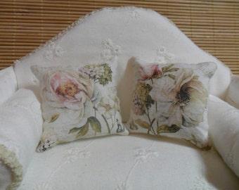 Dollhouse,miniature.Couple of cushions