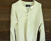 Vintage 1980s Ivory Knitted Oversized Sweater