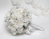 Wedding bouquet. Bridal bouquet wedding, wedding flower bouquets, paper wedding bouquet,  vintage bouquet wedding, handmade paper flower