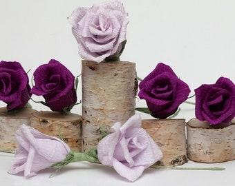 Deep purple wedding flowers, purple wedding, purple flowers, purple roses, purple bouquet, rustic purple wedding, rustic purple decor