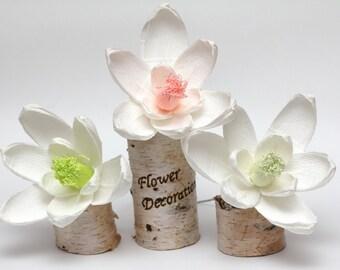 Rustic wedding, rustic wedding decoration, rustic wedding decor, rustic wedding flowers, rustic wedding favors, paper magnolias