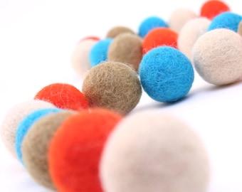 Felt Balls // DIY Garland // DIY Mobile // Fiesta Color Set // 2.5 cm // 40 Count