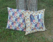 """Harvest Time Farm Pillows / Set of 2 Pillow Covers / 20"""" x 20"""" / Remote Storage pockets."""