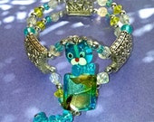 Dichroic glass Cat Bracelet