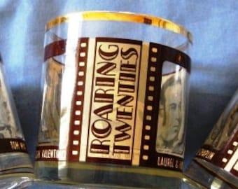 Vintage Roaring Twenties Glasses SET of Three