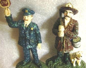 Samsnickel Figurines: Street Cop and Fireman