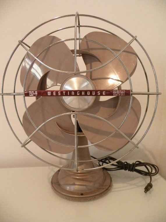Antique 12 Inch Westinghouse Mauve Electric Fan - OSCILLATING and IT WORKS