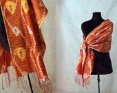 Ikat Silk Scarf or Stole - SALE
