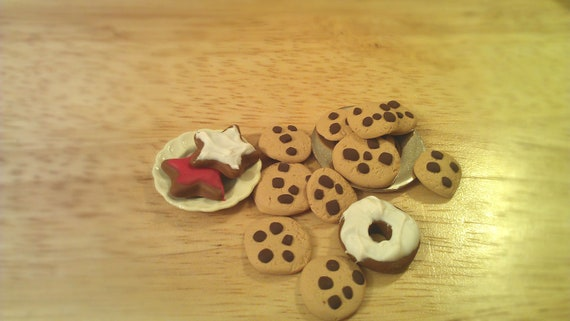 Miniature Polymer Clay Cookies Sweet Dollhouse