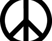 "RESERVED FOR michaelajoy0203 Peace Sign Custom Made Vinyl Decal Sticker - Matte White 4.94""x4.94"""