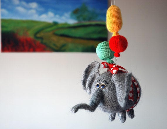 airy fairy flying elephant with 3 balloons pdf knitting