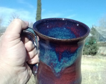 Amethyst red/blue ceramic tankard 20-24oz