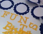 DIY Banner Blue Yellow White