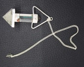New Healing Crystal Faceted 2 Pieces Pencil Pendulum With Crystal Pagan ET A14/2
