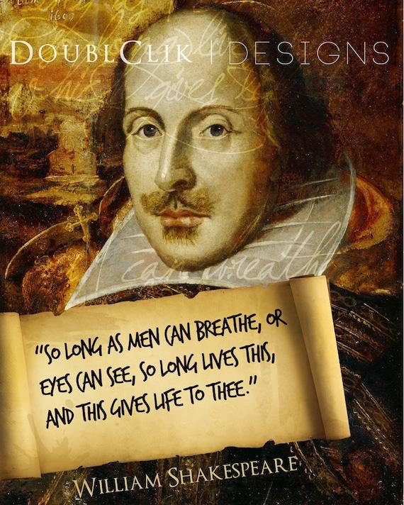 William Shakespeare Poster