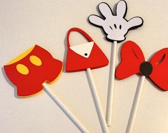 MIckey Mouse  inspired cupcake topper
