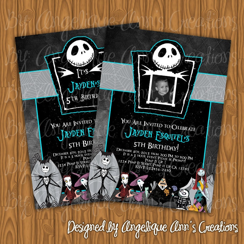 Nightmare Before Christmas Birthday Invitations could be nice ideas for your invitation template