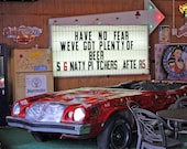 Car and Beer, For Him, Nashville  Car in a Bar Photograph 7x5