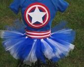 American Hero Superhero Tutu Outfit Costume Dress Up Super Hero