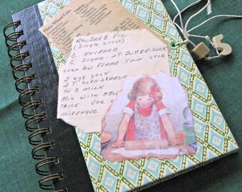 Notebook: Handmade Recipe Themed Ephemera Journal--Recycled 1978 Reader's Digest Book Cover
