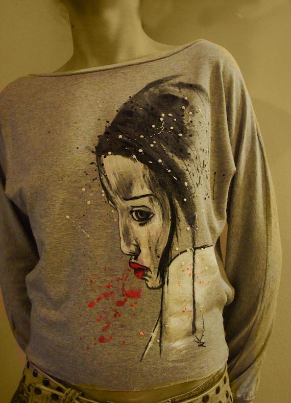 Unique Hand Painted T-shirt