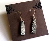 Rustic silver dangly earrings