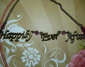 Happily Ever After necklace featuring Pink Swarovski Crystals by vintagerust