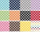 Riley Blake Medium Cotton Dots 1/2 yard bundle - Pre-order - Sale - shipping in October