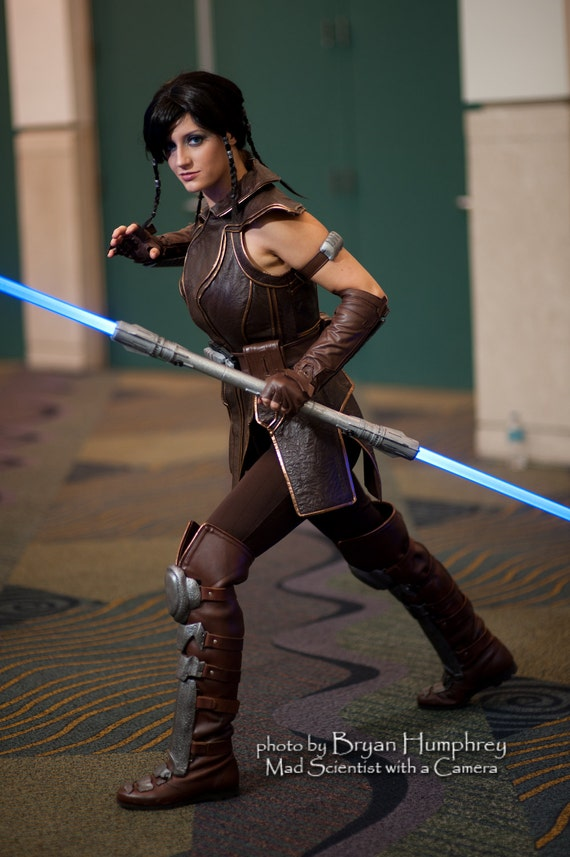 Custom leather costume based on Satele Shan from The Old Republic