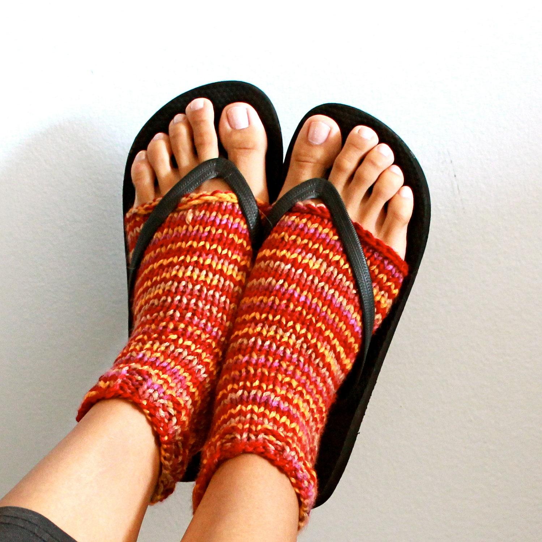 Knitting Patterns Heel Less Socks : Custom Yoga Socks Toeless Heel-less Knit Stirrup Socks for