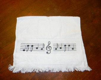Music Note Towel - Hand Towel - Kitchen Towel - Guest Towel
