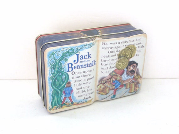 Little Book Tin - Jack and the Beanstalk - Kids Room Decor - Collectible