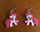 My Little Pony Pinky Pie Shrinky Dink Earrings