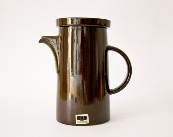 Vintage Italian coffee tea set brown kettle pot sugar bowl