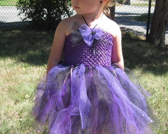 Halloween Costume: Glitter Spider Tutu Dress w/matching Hair Pretty
