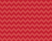 Small Tone on Tone Red Chevron: Riley Blake Designs - 1/2 Yard Cut