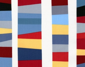 Kona Modern Quilts by Cynthya Frenette for Robert Kaufman- Stripe in Pacific- Half Yard Cut (ACK12807-60)