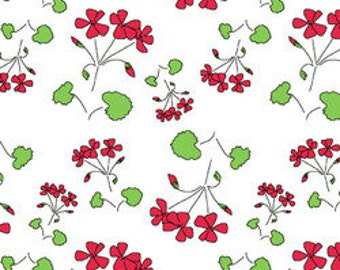 Red Thread: Clover Patch White A5907 by Marisa for Creative Thursday 1 Yard Cut