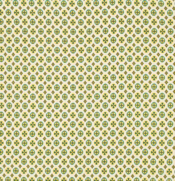 Circle Cross Green - Chicopee: Denyse Schmidt for Free Spirit Fabrics- 1 Yard Cut